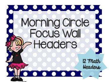 Math Focus Wall Header