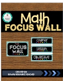 Math Focus Wall Headers