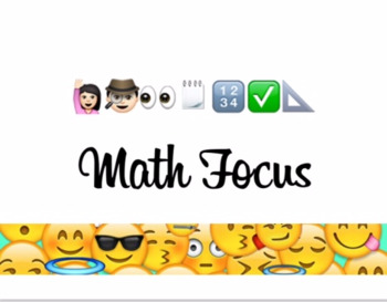 Math Focus Wall Sign