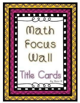 Math Focus Wall Title Cards