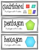 Math Focus Wall Vocabulary Cards - PART 2