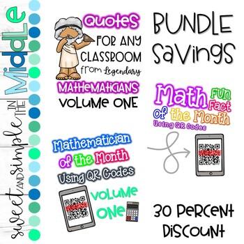 Math Focus Wall with QR Codes BUNDLE