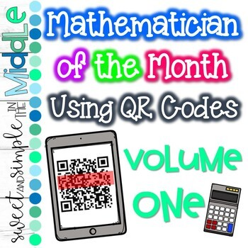 Math Focus Wall with QR Codes BUNDLE