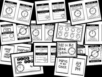 Math Foldable Bundle - Time, Money, Shapes, Fractions, Measure, Graphing