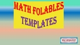 Math Foldable Templates