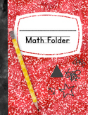 Math Folder Covers