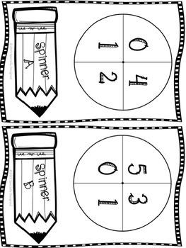 Addition and Number Sense Folder Games
