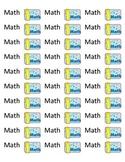 Math Folder Labels