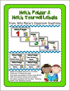 Math Folder Labels (Editable)