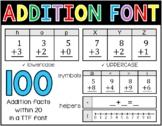 Math Font - Addition Facts 0-20