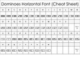 Math Font - Dominoes Horizontal