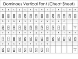 Math Font - Dominoes Vertical