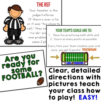 Math Football Addition Game... so fun at the end of the year!