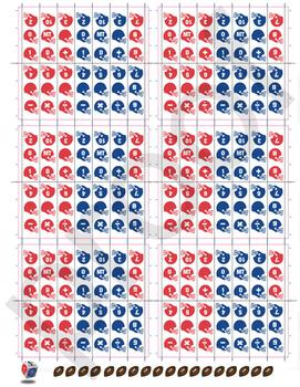 Math Football Cube Labels