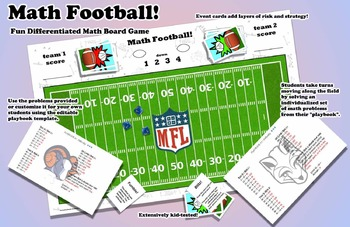 Math Football - Print and Play Board Game