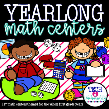 Yearlong Math Centers! Holiday and Monthly Themed - 117 Centers
