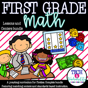 Math! For First Grade! Units 1-12 COMPLETE Bundle! {Lessons and Centers}