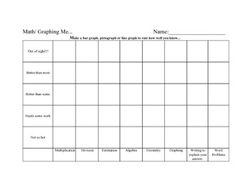 Math Formative Assessment Graphing Me