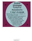 Math Assessments for Conceptual Division Strategies with 2