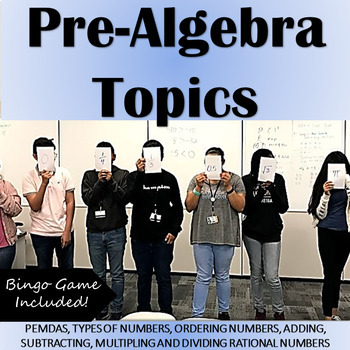 "Pre-Algebra ""Number Sense"" Topics: PEMDAS, Operations w/ Integers, Types of #'s"