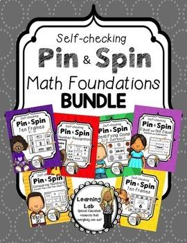 Kindergarten Math - Self-Checking Math Centers BUNDLE