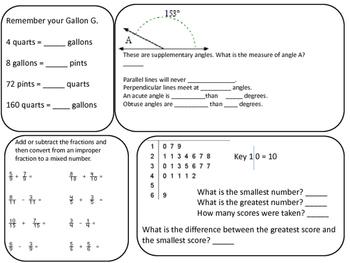 Math Fourth Grade Review
