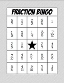 Math Fraction Bingo: Adding and Subtracting Fractions with Common Denominators