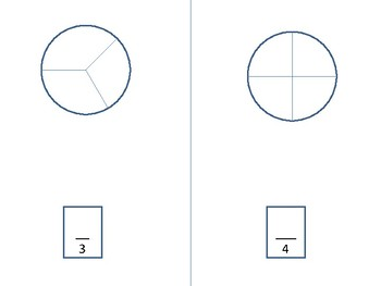 Math------Fraction Circles  learning addition with like denominators.