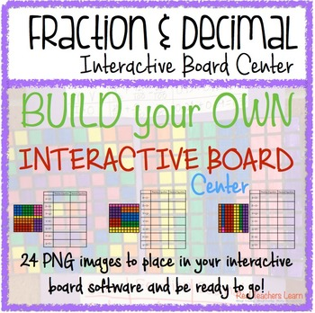 Math Fraction & Decimal 100s Grid Build-Your-Own Interacti