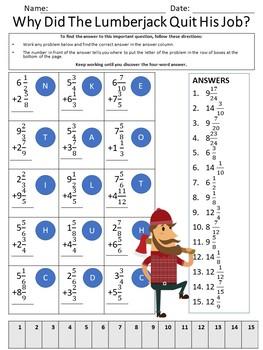 Math Fraction Riddles