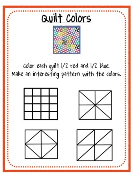 Math Fraction Task Card Sheets