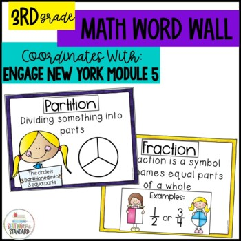 Math Word Wall for Fractions Grade 3 Module 5 Engage New York