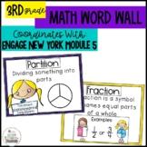 Math Word Wall Grade 3 Module 5 Engage NY Math