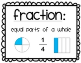 Math Fraction Wall Posters