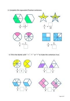 Math Fraction Worksheet