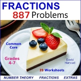 Math Fractions | 39 Worksheets (Gr. 4-7)