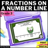 Fractions on a Number Line Task Cards, Fractions on a Number Line 3rd Grade
