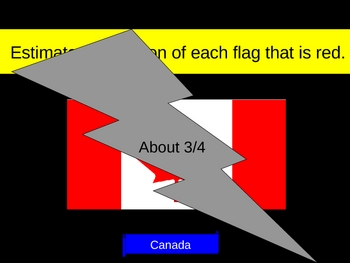 Math Fractions Flag Estimates PowerPoint