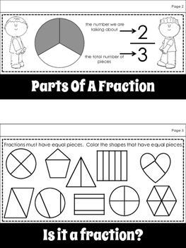 Math:  Fractions Flipbook