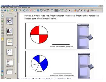 Math Fractions Practice Smartboard lessons