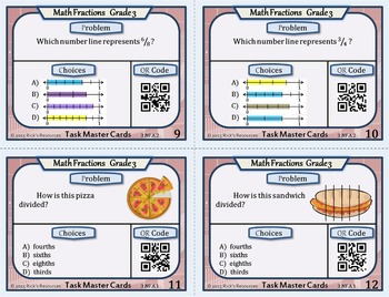 Fraction Task Cards Grade 3