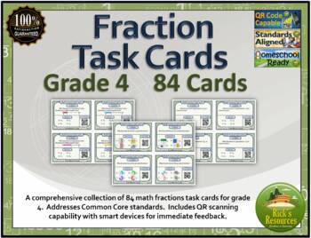 Fraction Task Cards Grade 4
