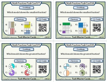 Fraction Task Cards Grade 4