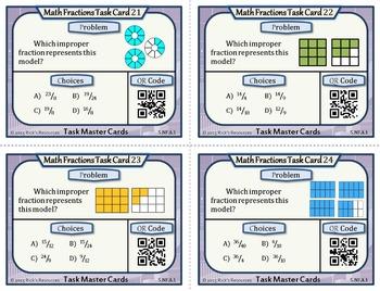 Fraction Task Cards Grade 5