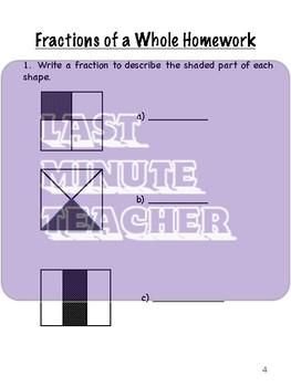 Math Fractions Worksheets Student Workbook for US