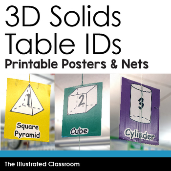 Math Freebie - 3D Solid Figures Table IDs