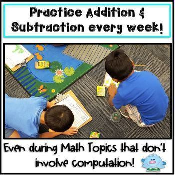 ROLL & GRAPH BACK TO SCHOOL MATH CENTERS Addition & Subtraction
