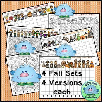 ROLL & GRAPH FALL MATH CENTERS Addition & Subtraction Partner Math
