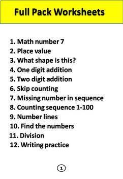 Math full Binder of 398 worksheets.