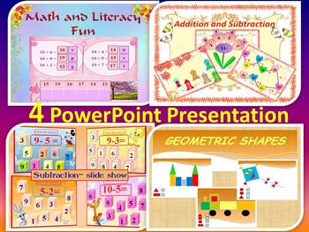 Math  - Addition and Subtraction - Geometric Shapes - Back to School Activities